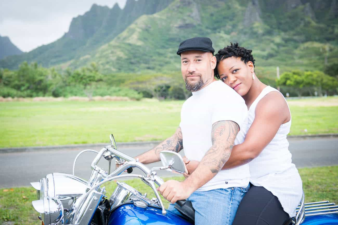 Hawaii Motorcycle Engagement Photos