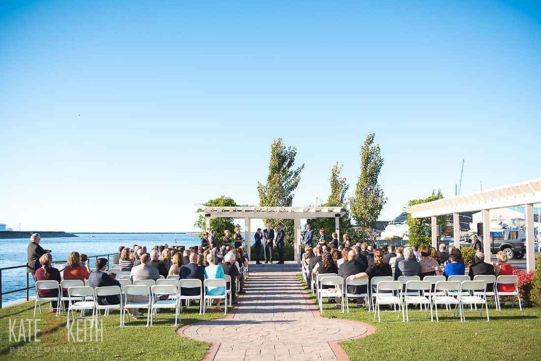 Lake Ontario Wedding ceremony location