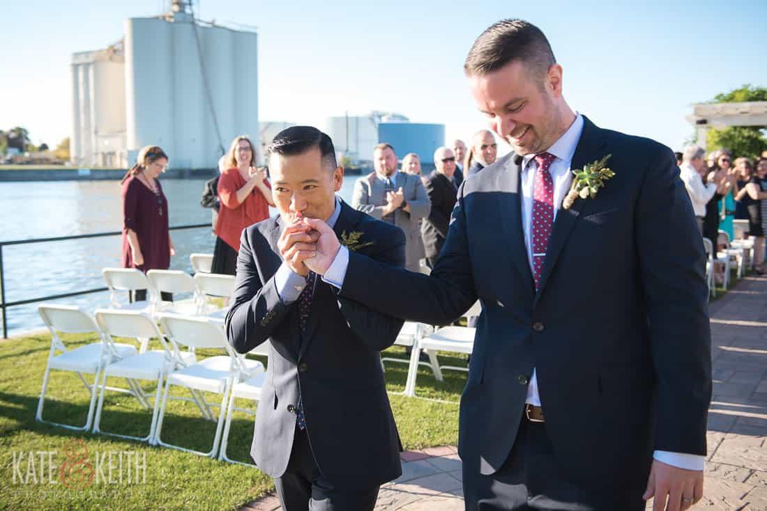 Oswego, NY wedding happy couple