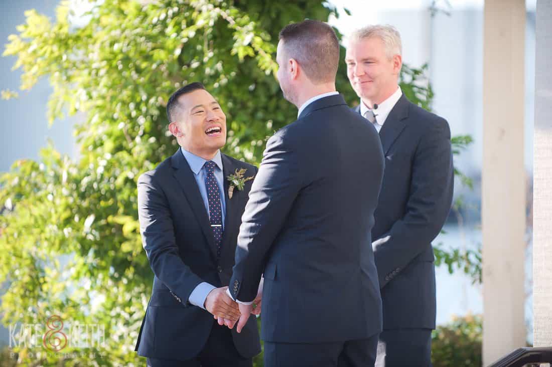Oswego, NY wedding gay couple