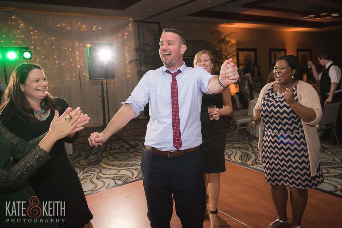 Guy dancing at wedding