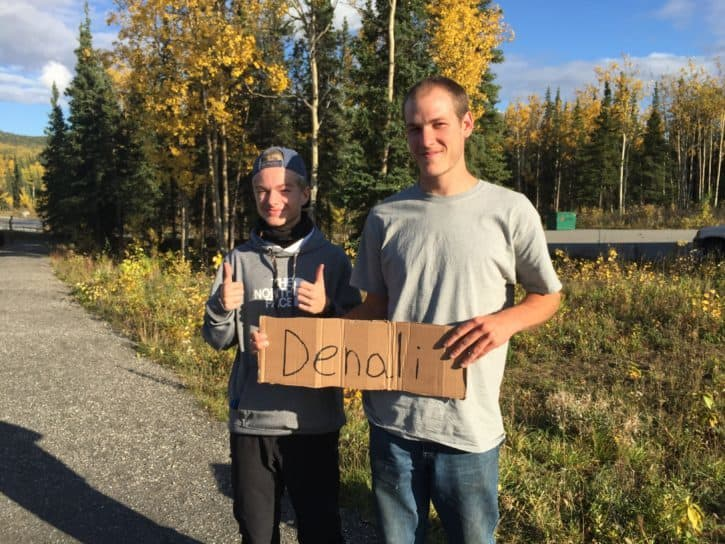 Denali hitchhikers Alaska