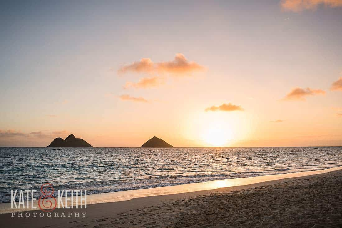 Sunrise Lanikai Beach Mokes