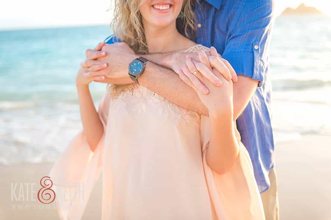 Lanikai Beach Engagement photos Kailua Hawaii
