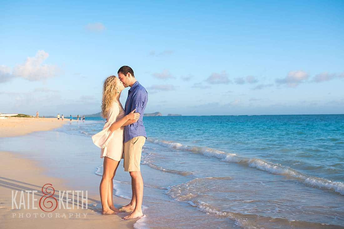 Kailua Oahu Engagement Photos Lanikai Beach Sunrise