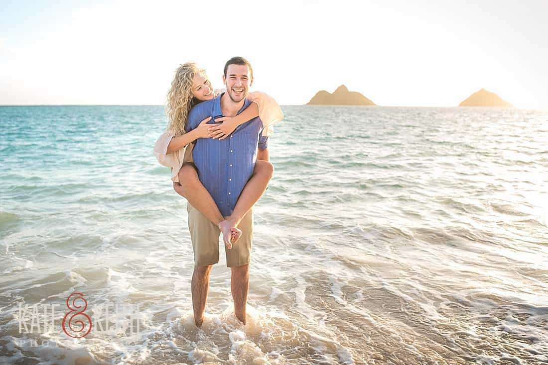 Kailua Lanikai Beach Sunrise Engagement Photos
