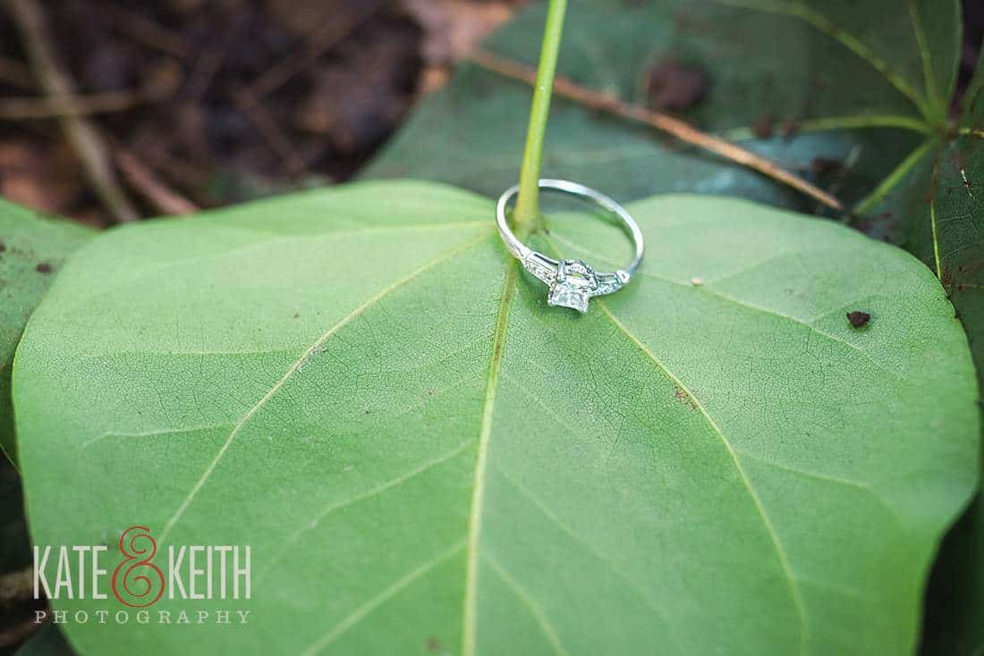 engagement ring leaf