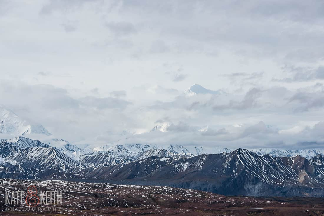 view Denali distance clouds