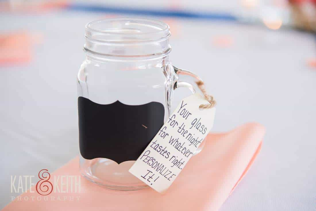 Mason jar wedding detail