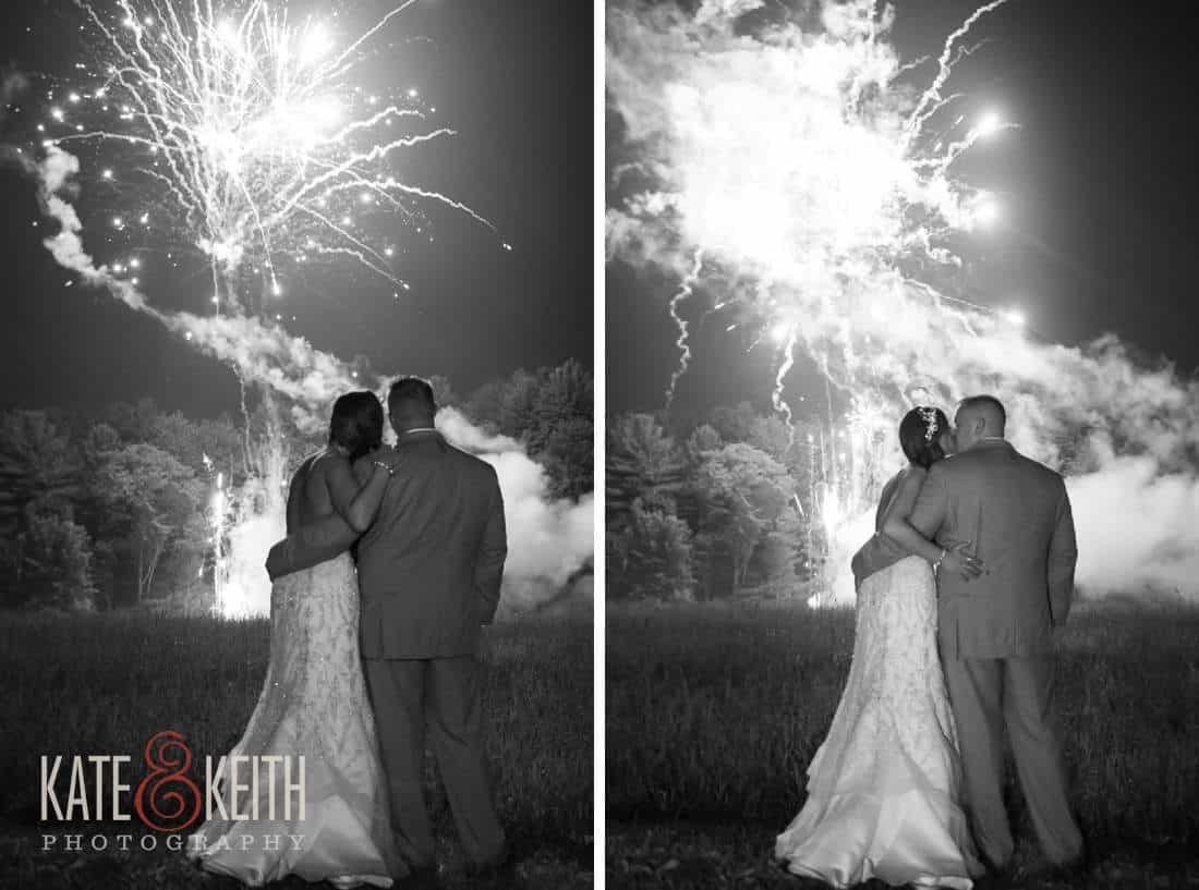 Bride groom wedding fireworks photos