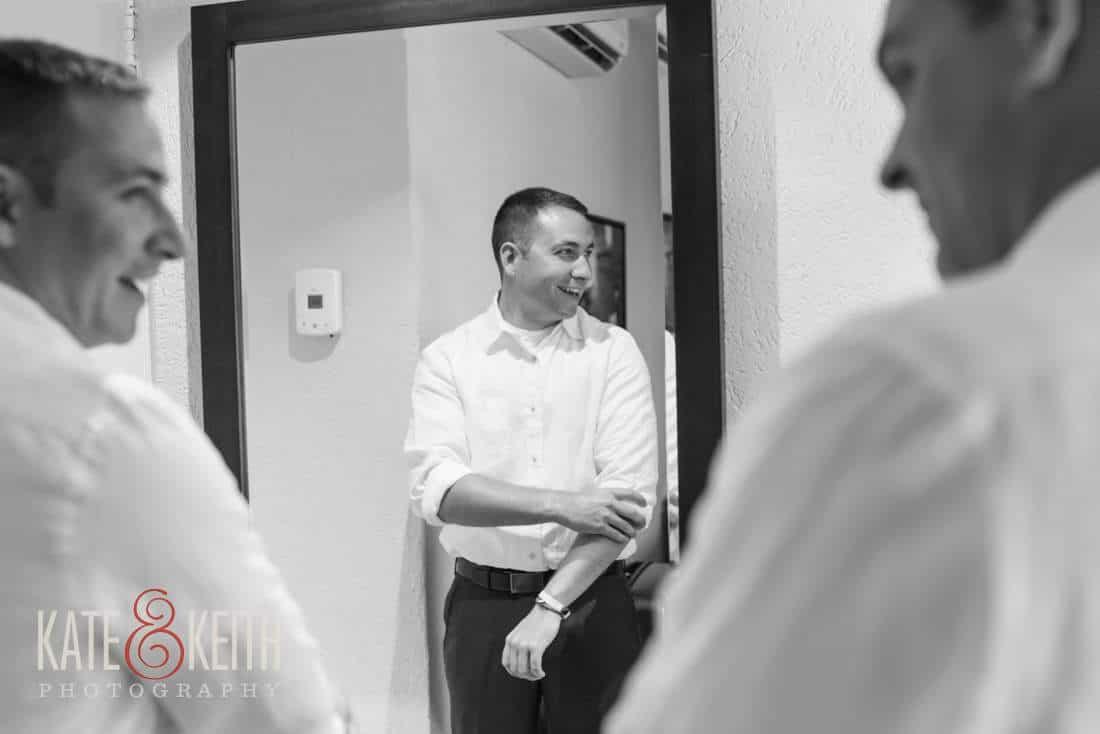 Caribbean wedding groom getting ready