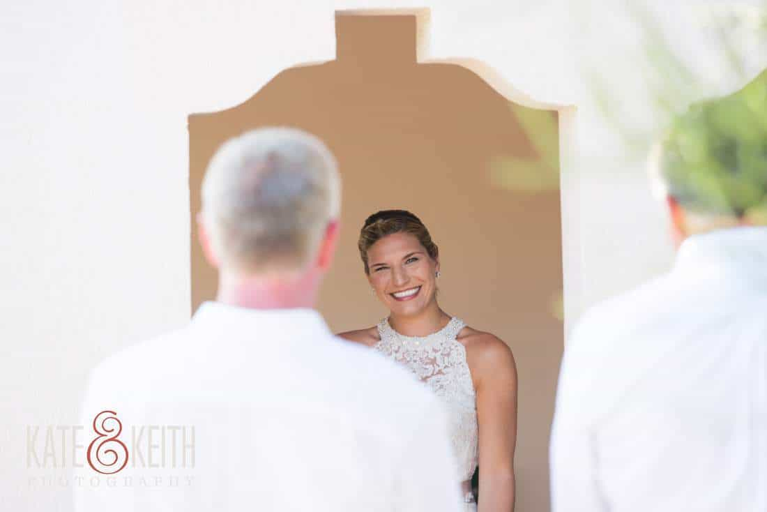 Bride sees dad