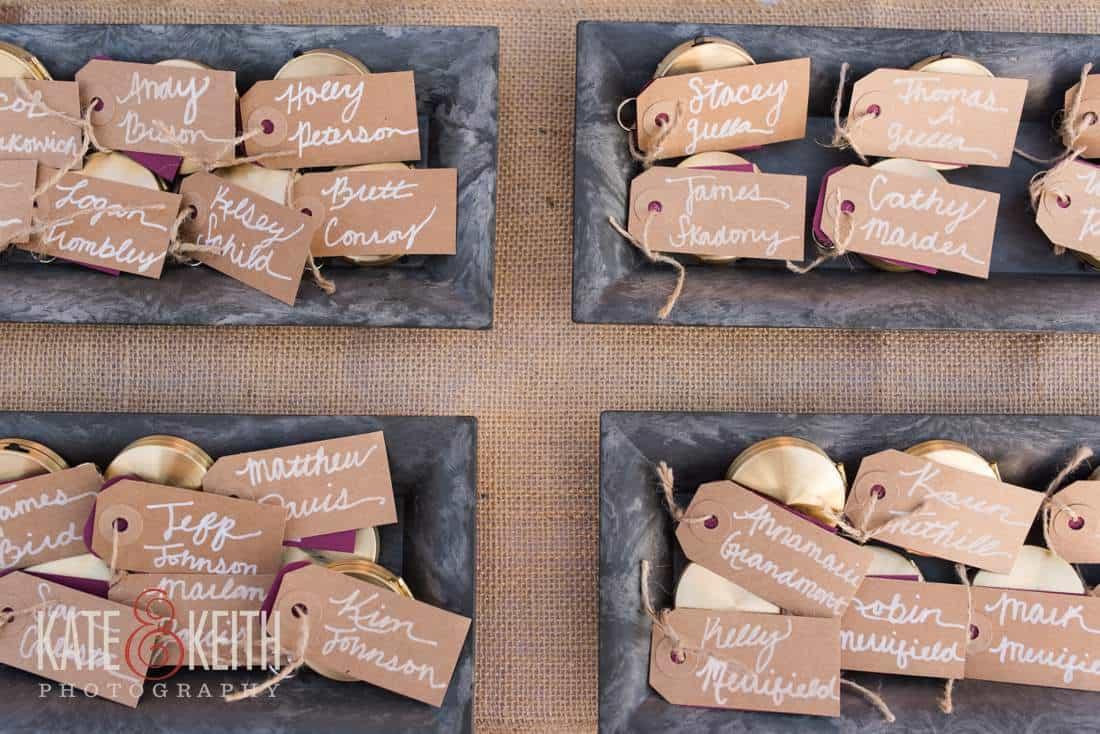 Caribbean beach wedding details