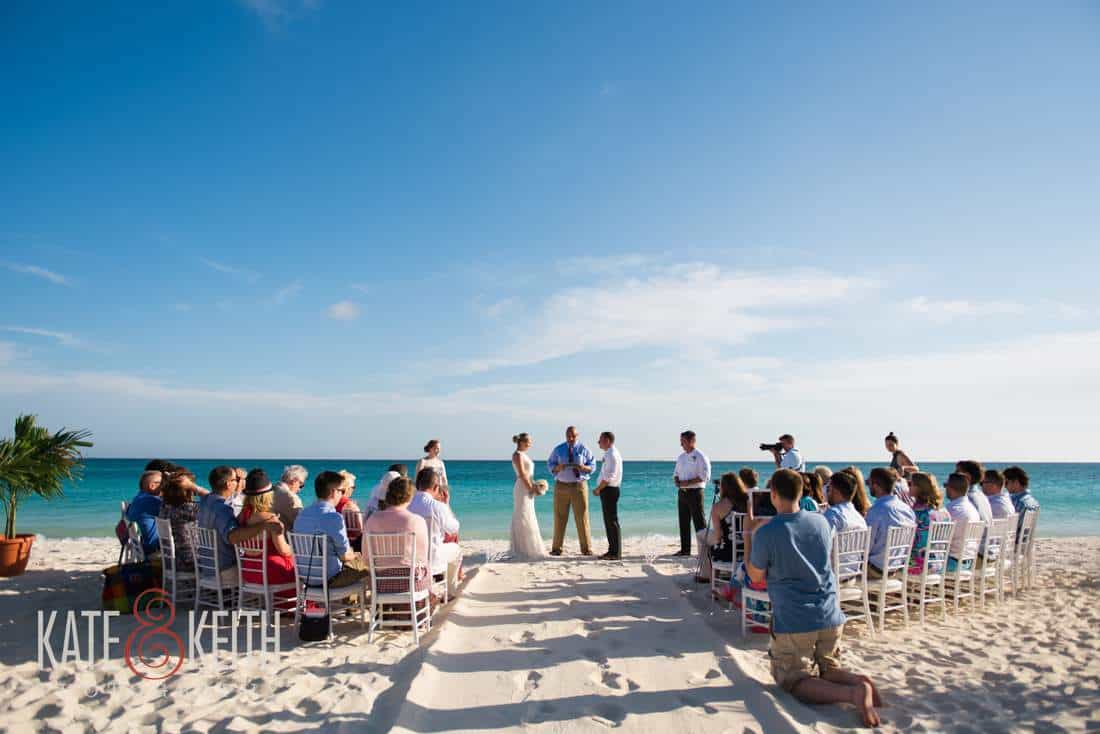 Caribbean beach wedding ceremony