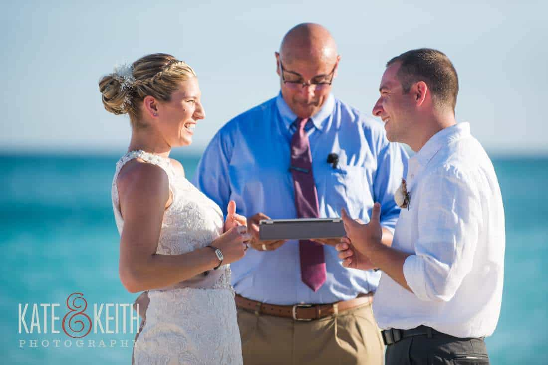 Rings Caribbean beach wedding ceremony