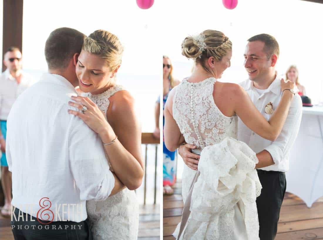 Caribbean Wedding Dancing Bride and Groom Aruba
