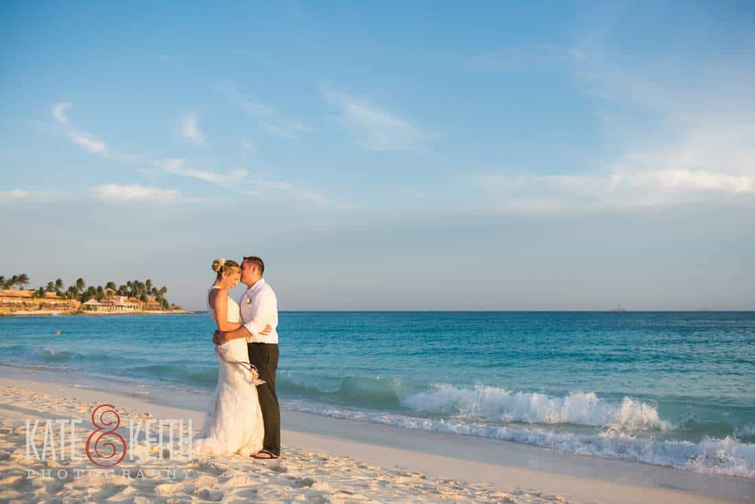 Caribbean Wedding Bride and Groom Beach