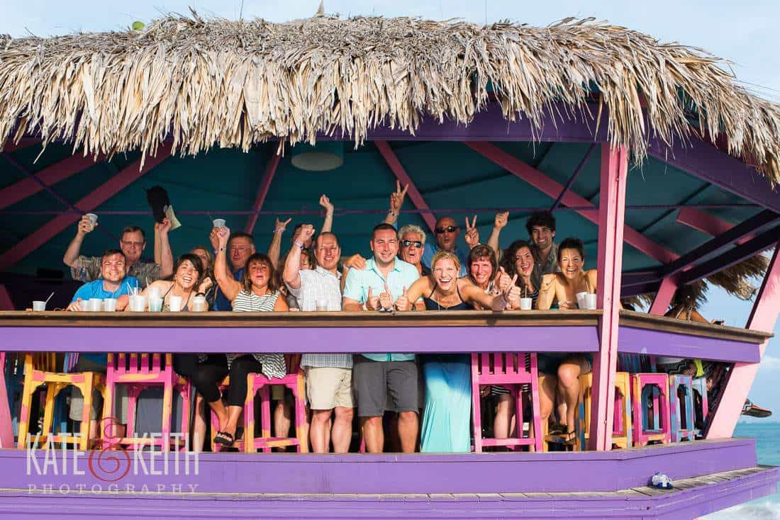 Tiki Bar Wedding Party