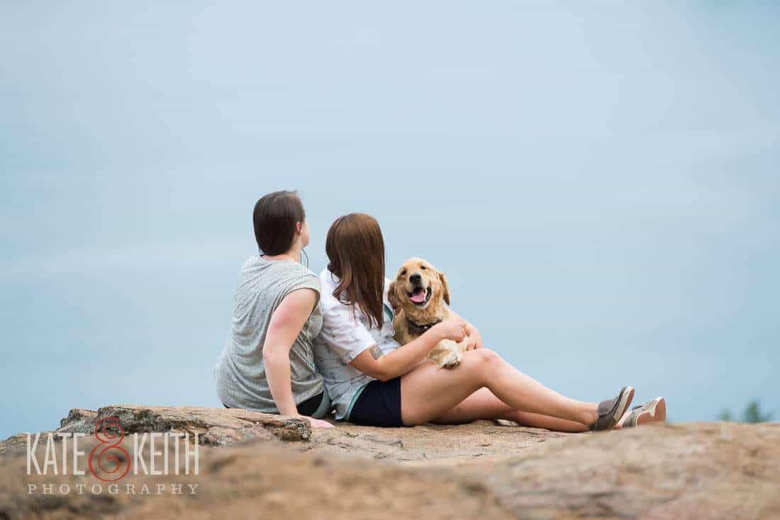 Gay Engagement Photo dog mountain