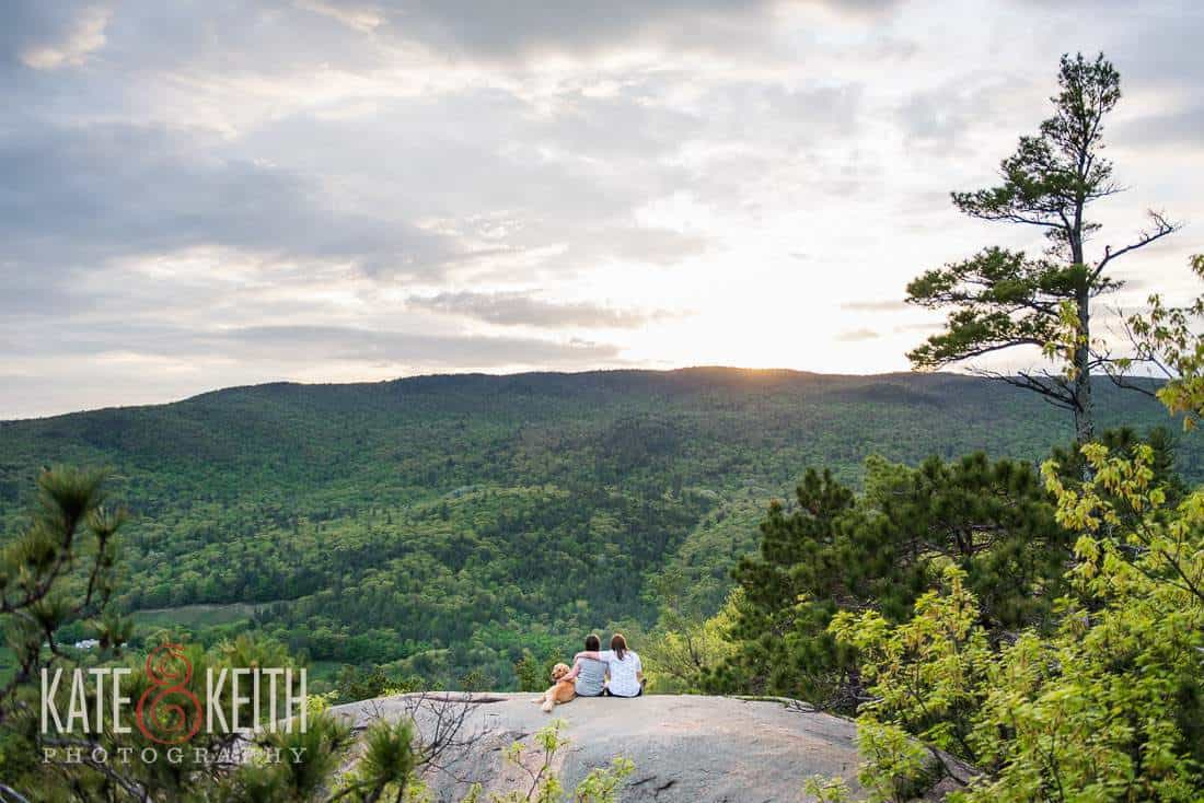 natural Same Sex engagement portrait NH landscape