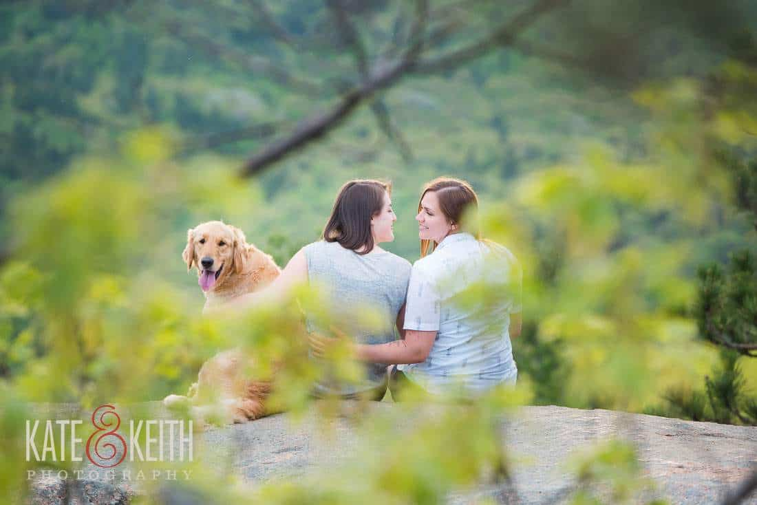 natural Same Sex engagement portrait NH