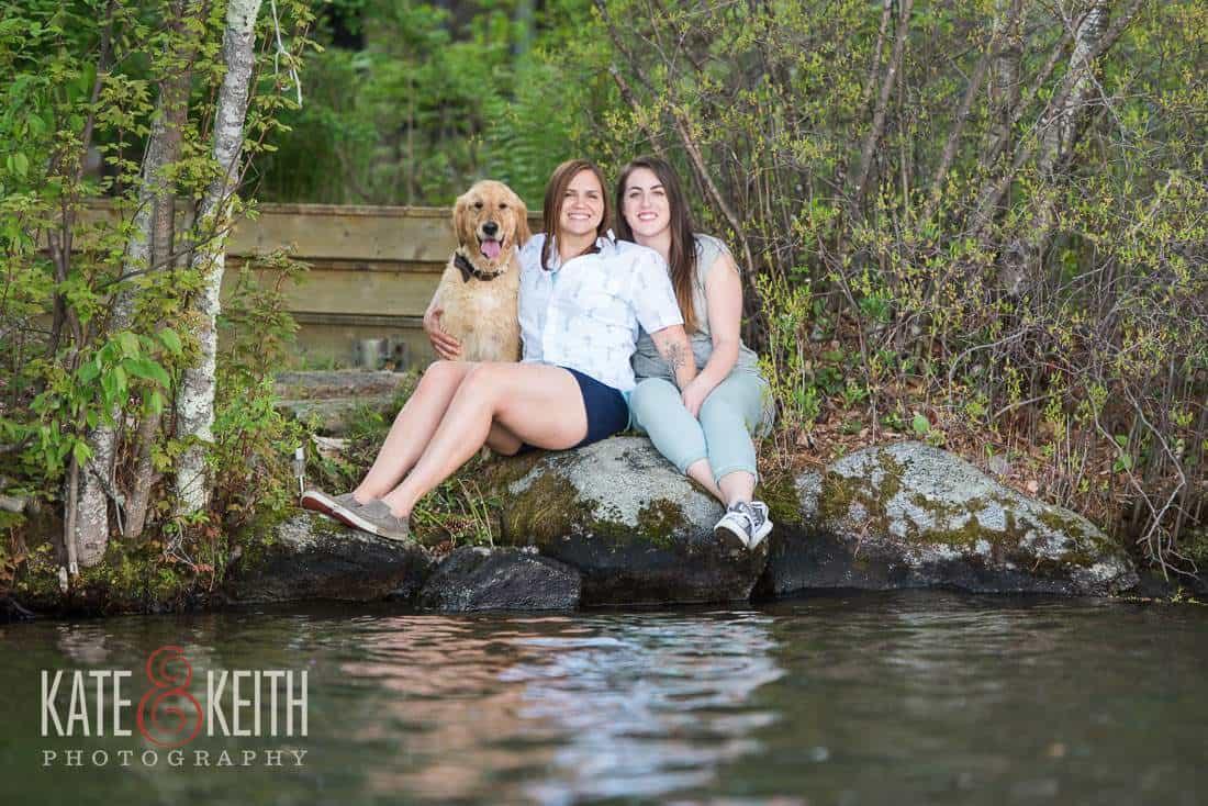Lake NH Gay Engagement Photos