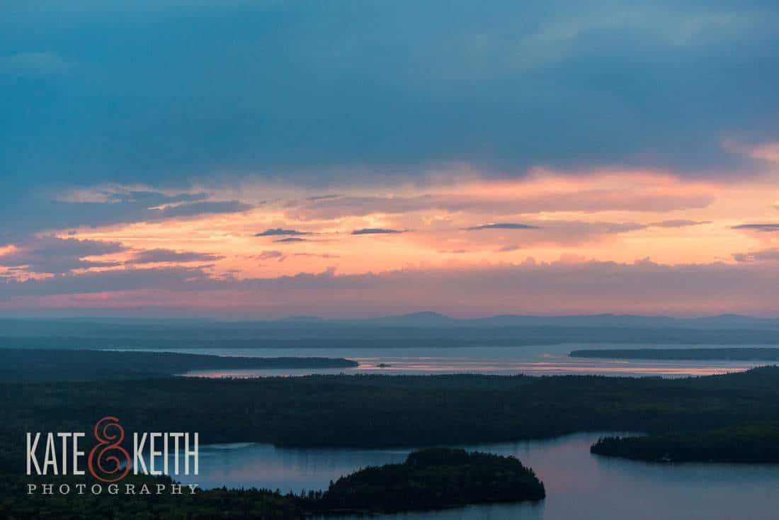 Beech Mountain Sunset Acadia National Park
