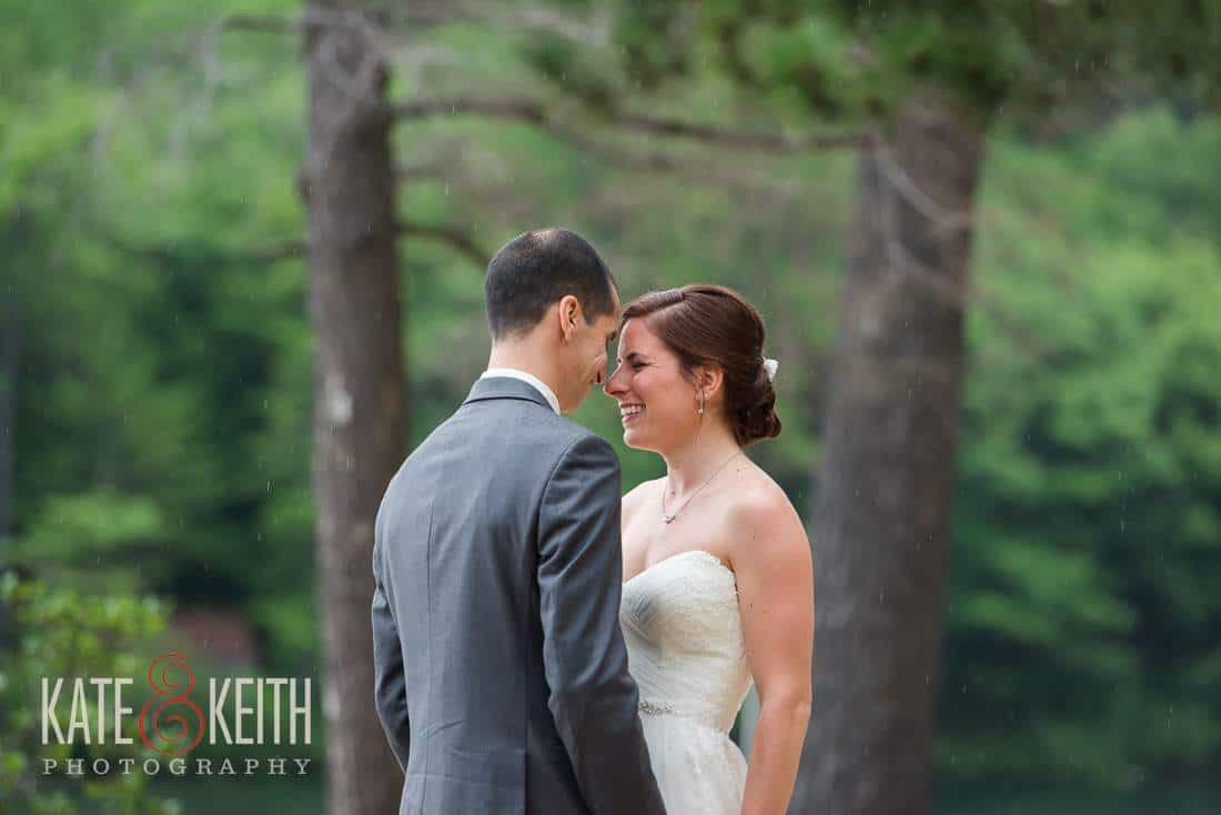 Intimate First Look Bride Groom Lakeside