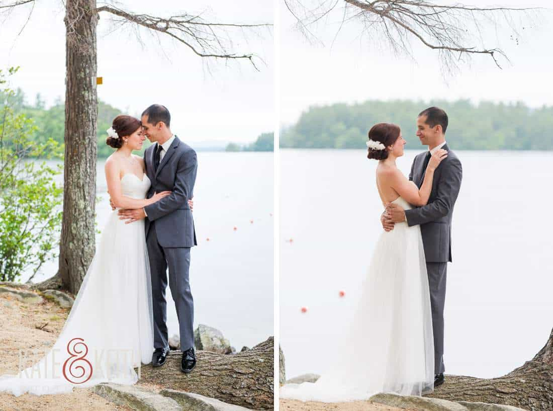 Squam Lake Bride Groom Portraits