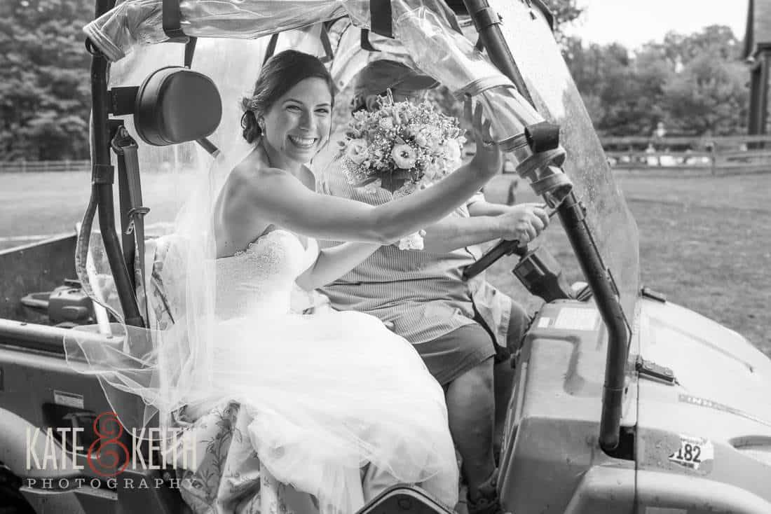 Bride Golf Cart