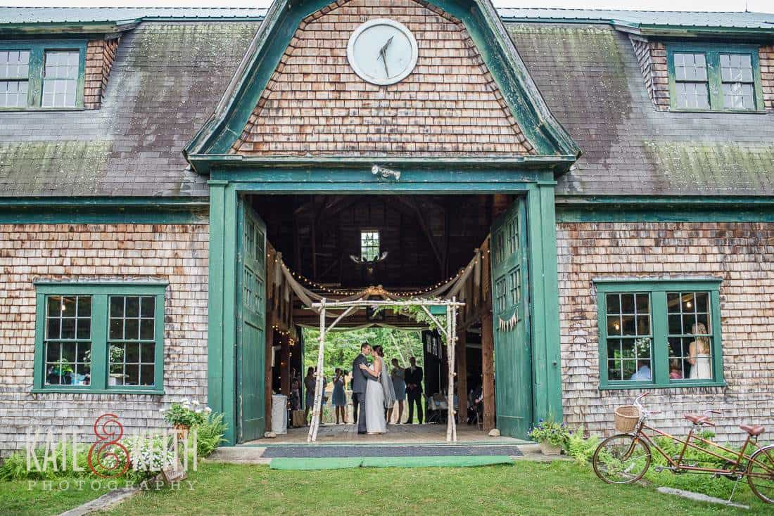 Authentic Barn Wedding First Dance