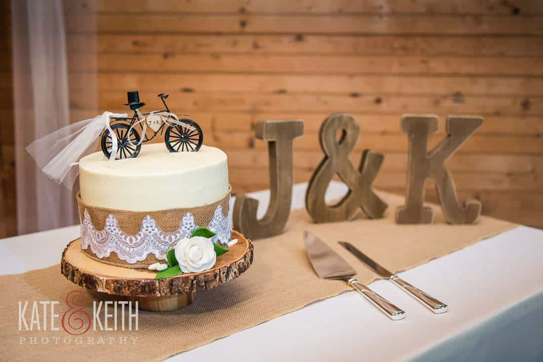 Bicycle Wedding Cake Barn Wedding Venue