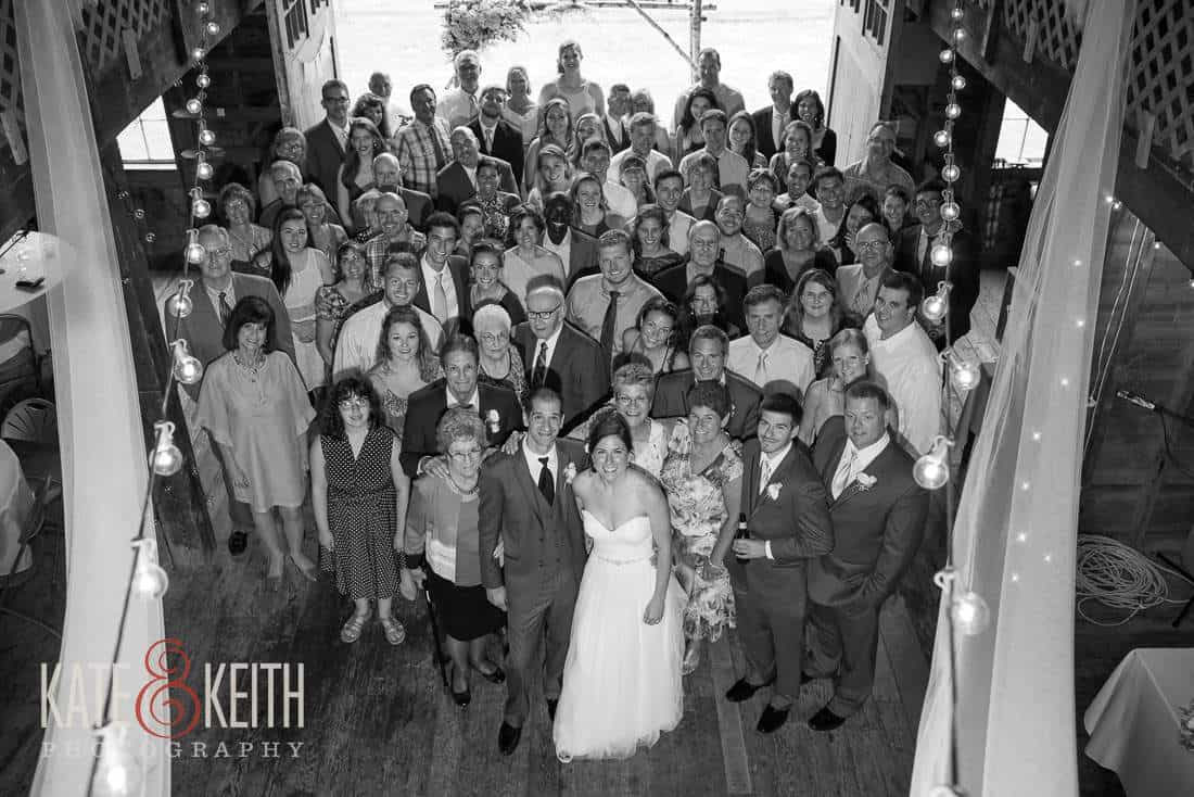 Group Photo Barn Wedding