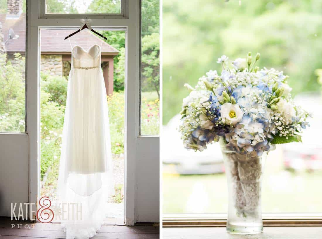 Barn Wedding Dress flowers