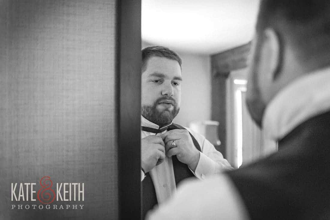 Groom Wolfeboro Inn Wedding Photographer NH