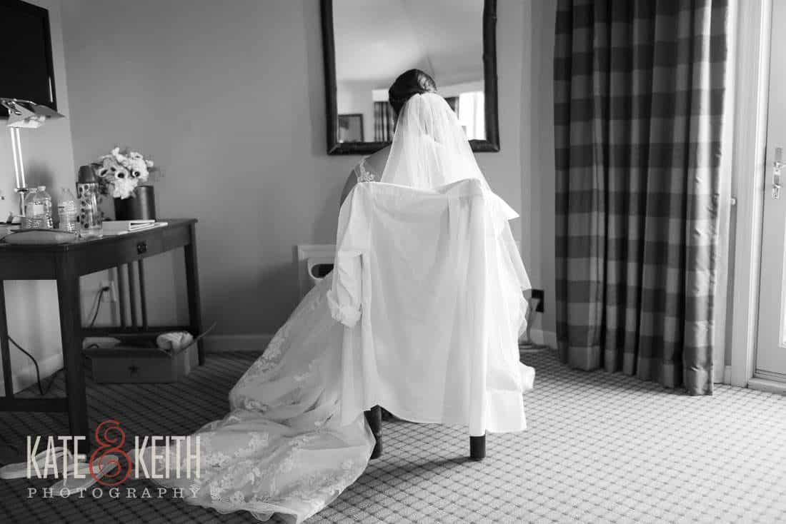 Bride before wedding wolfeboro, NH