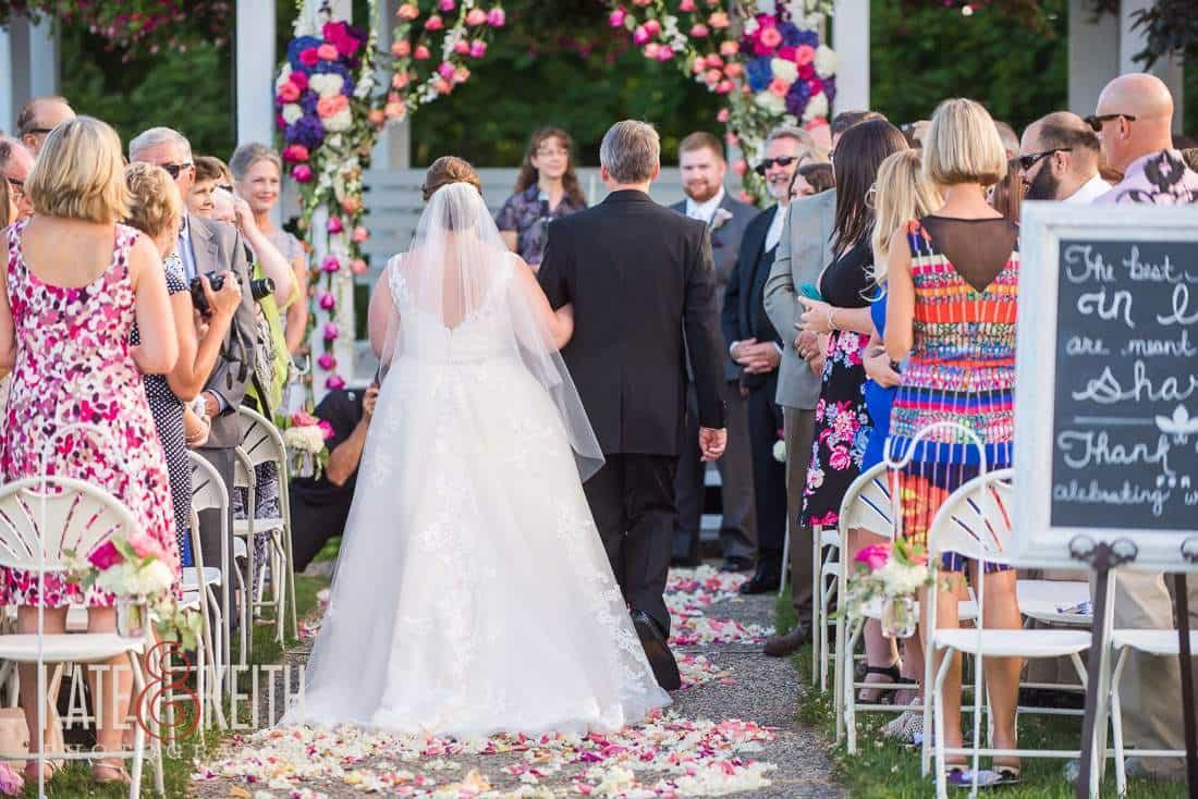 Bride Aisle Wolfeboro Inn, New Hampshire Wedding
