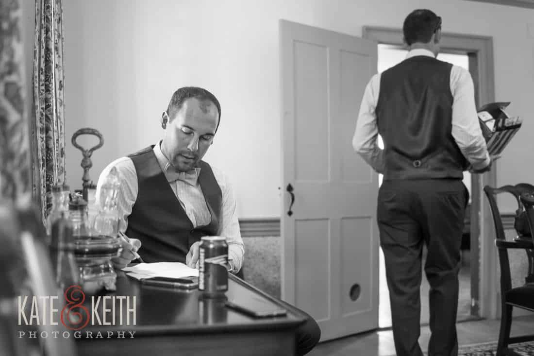 Groom Writes Vows Grafton Inn Wedding