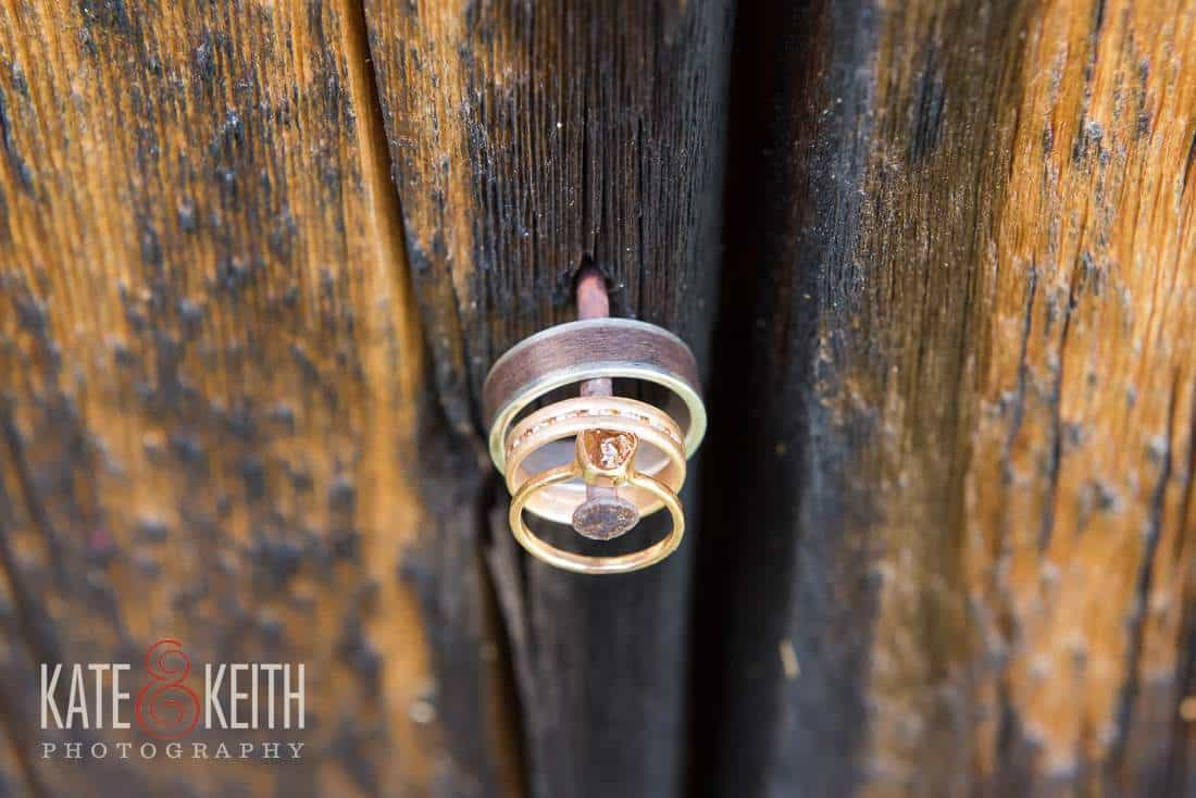 Rough Cut Red Diamond Engagement Ring