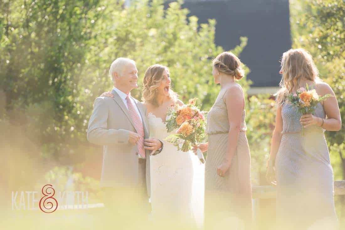 Casual Field Wedding Bride