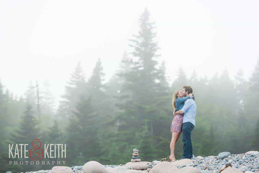Acadia National Park Hunters Beach Engagement Photos