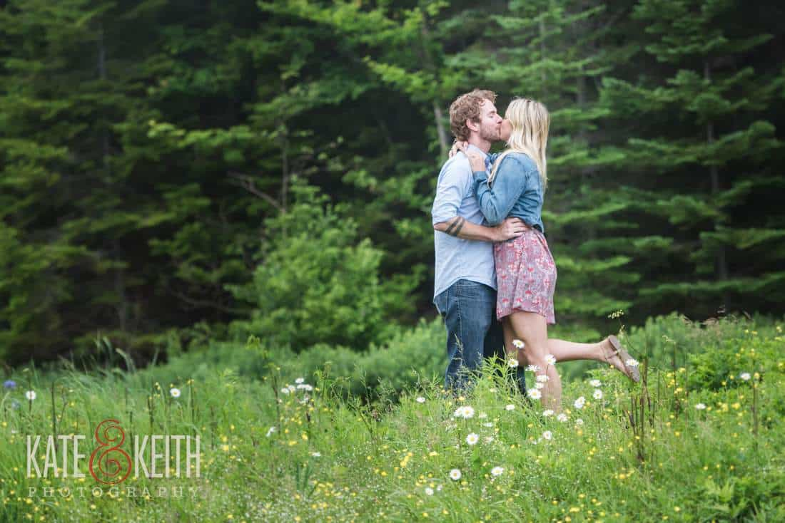 Acadia National Park Hiking Engagement Photos