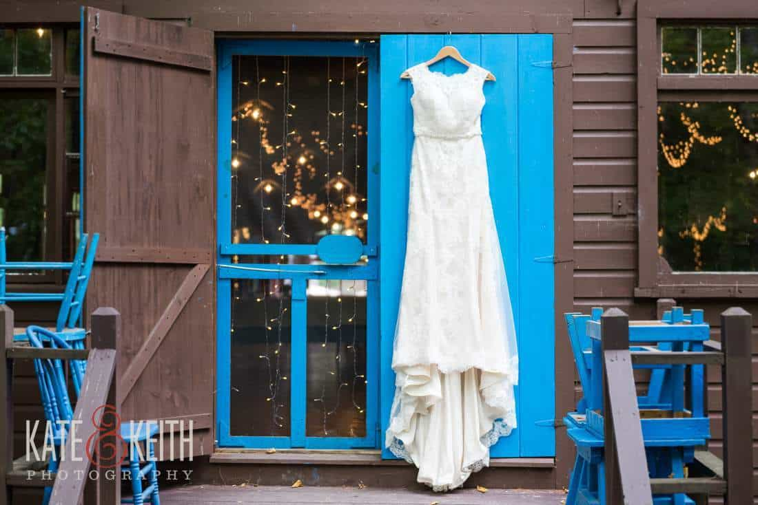 Camp wedding dress