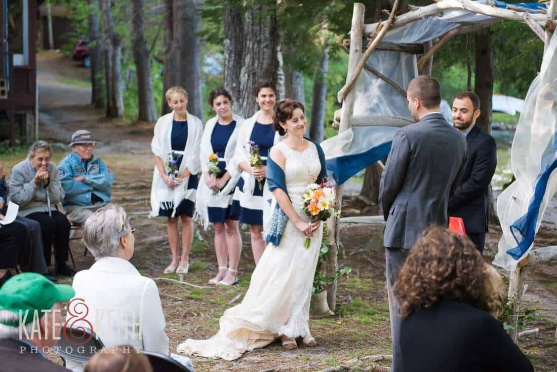 breezy lakeside wedding ceremony