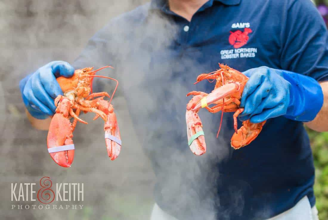 Sam's Wedding lobsters bake steam