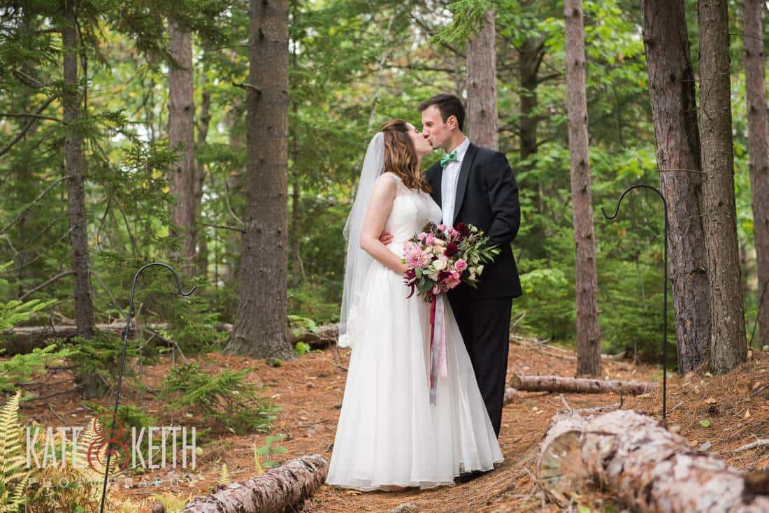 Bride and Groom woods, trail, forest, formal
