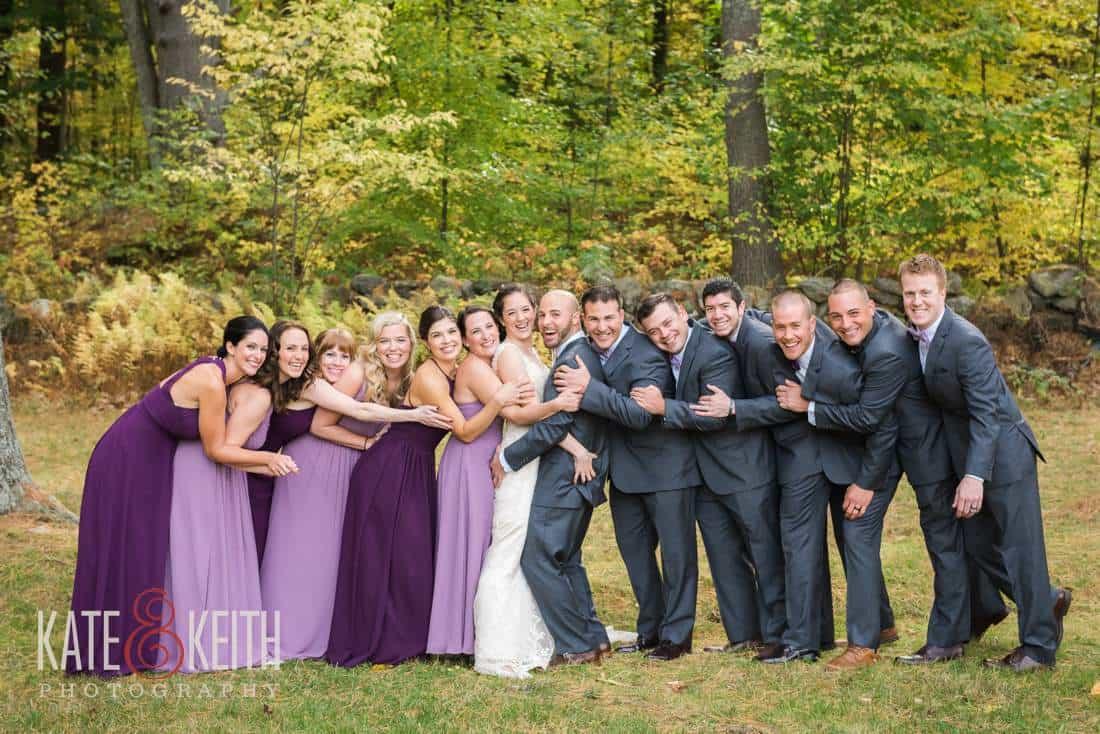 casual natural wedding party photos
