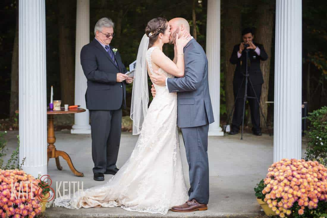 First Kiss, outdoor ceremony