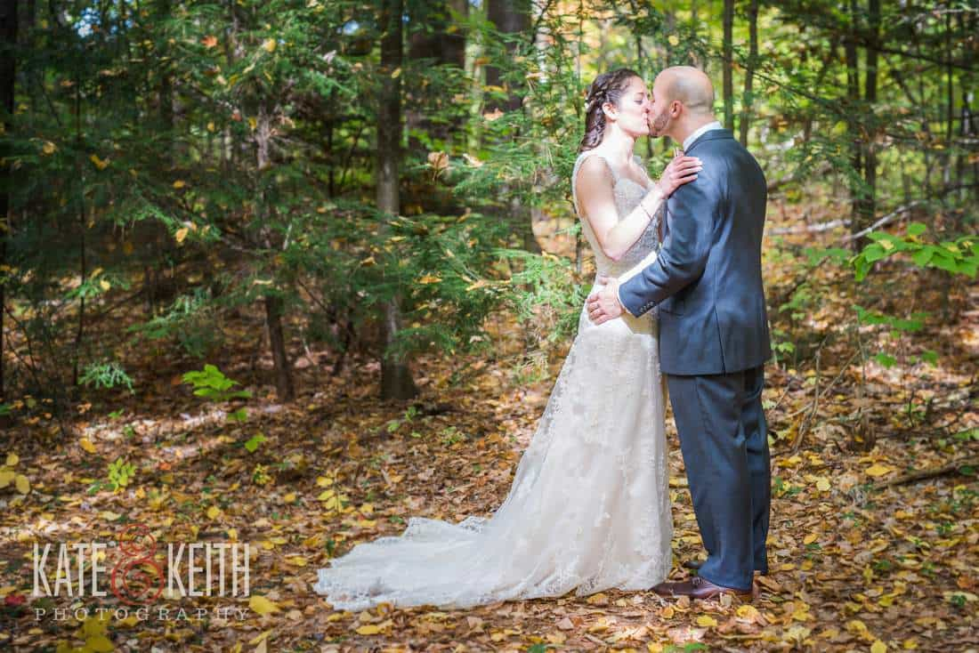 Bride & Groom kiss during first look