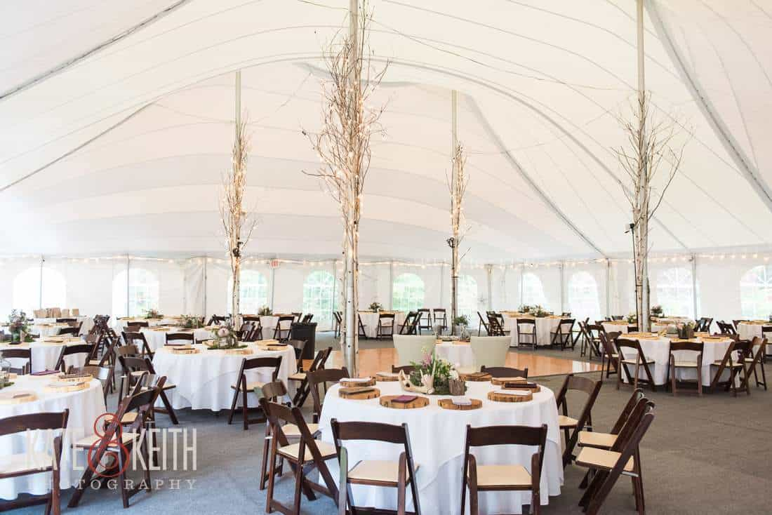 Waterville Valley Wedding Reception Tent
